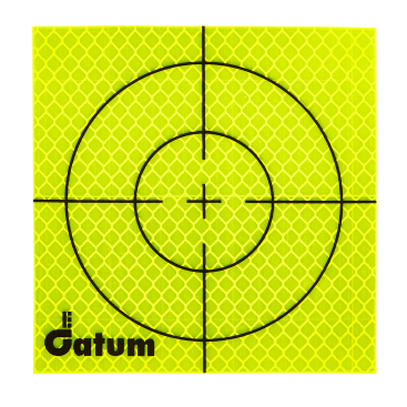 For monitoring jobs where you need to leave targets in place for a long time, Datum supply a good value range of self-adhesive targets in various sizes. This reflective target is the largest available size at 100mm x 100mm.