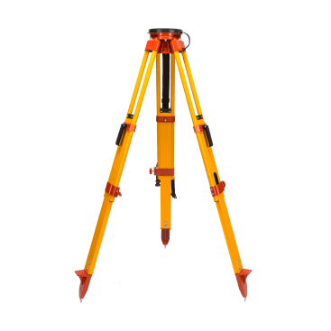 Datum's Heavy Duty Fibreglass Tripod provides double locking (clamp & footscrew) telescopic legs and a large circular head for easy instrument positioning.