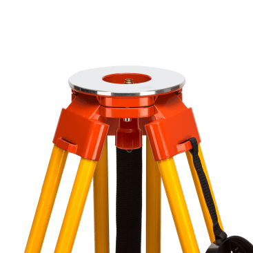 Datum's Heavy Duty Fibreglass Tripod provides double locking (clamp and footscrew) telescopic legs and a large circular head for easy instrument positioning.