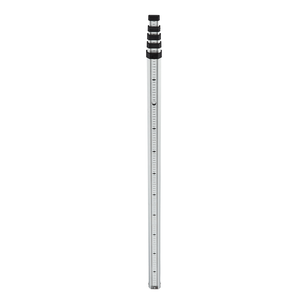 Datum DMS5 is a high quality, robust aluminium, 5m, five section telescopic levelling staff, comprising of sections allows for shortening for transport and storage.