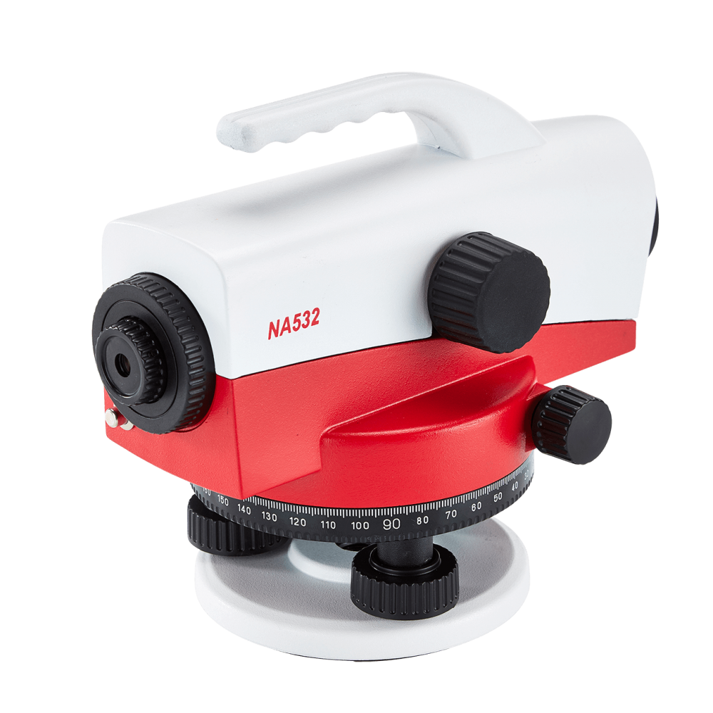 Datum NA532 Automatic Level features a robust cast metal casing, an impressive 32x magnification & an accuracy rating of ±1mm per double km run of levelling.