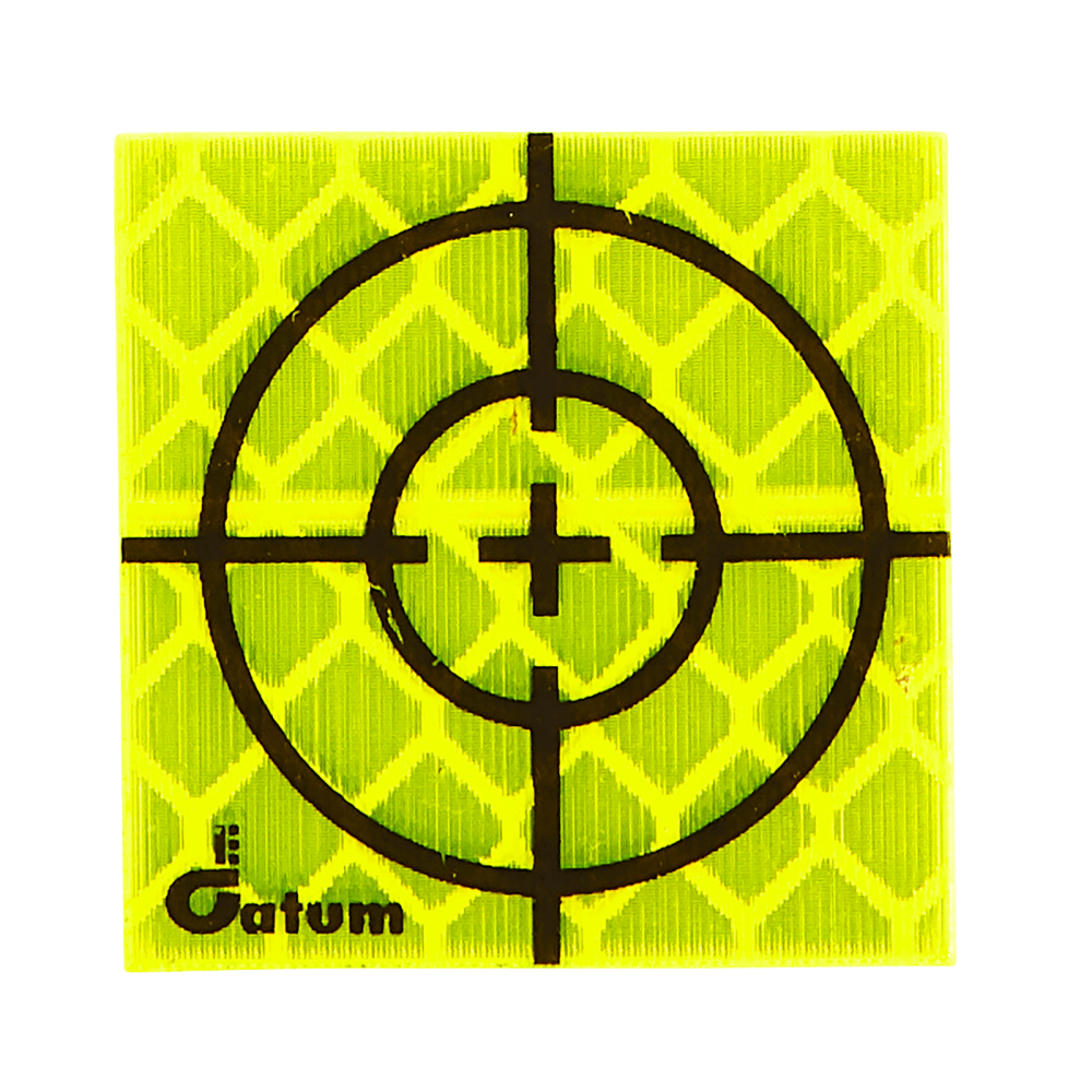 The smallest available in the range of Datum retro prisms targets, this target measures 25 x 25mm.