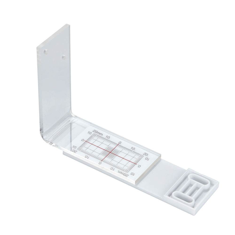 The Perspex monitor is hinged at 90° enabling the user to constantly check and monitor internal and external corners.