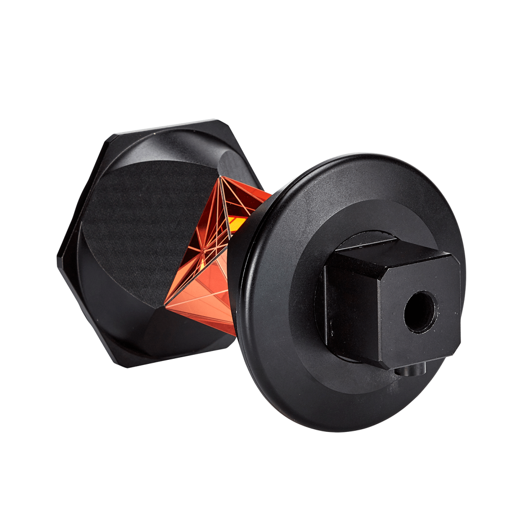 Datum DLT360 Degree Prism is a light-weight, passive reflector for use with Robotic Total Stations, providing efficient operation without the need for directing the reflector toward the instrument.